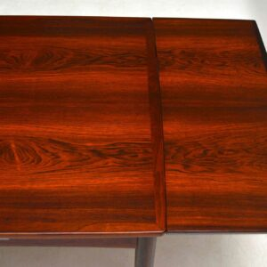 1960's Danish Rosewood Retro Dining Table by Poul Hundevad Vintage 1960's