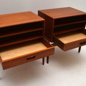 Pair of 1960's Teak Retro Bedside Cabinets by Arne Vodder