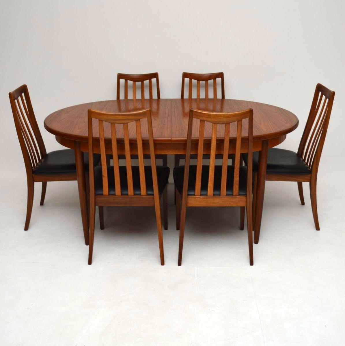 Retro Teak Dining Table amp Six Chairs by G Plan Vintage  : 3917 003 from www.retrospectiveinteriors.com size 1195 x 1198 jpeg 116kB