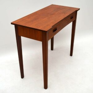 Retro Teak Side Table / Desk Vintage 1960's