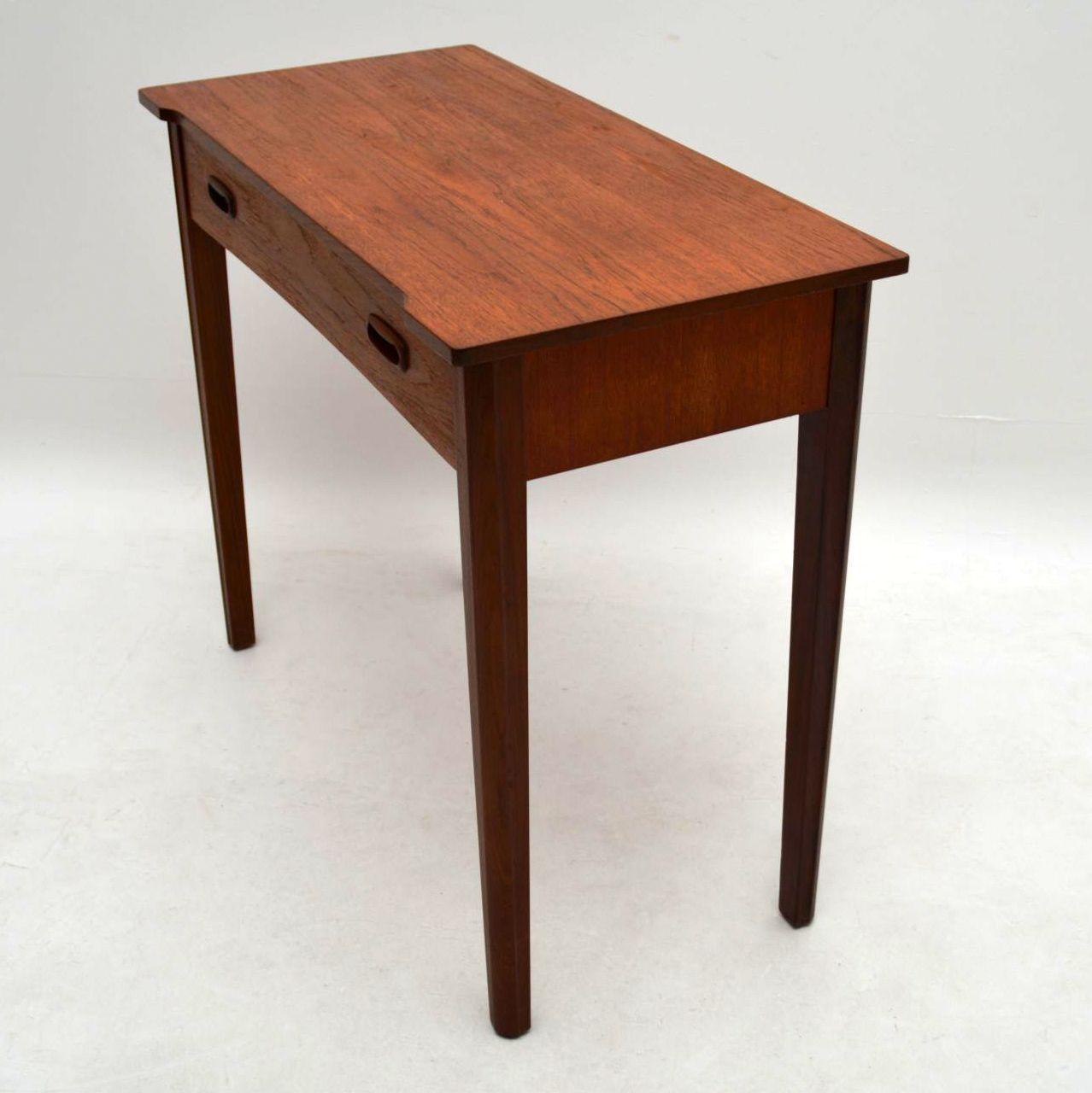 Retro Teak Side Table Desk Vintage 1960 S