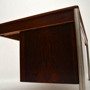 Retro Rosewood & Chrome Desk by Archie Shine Vintage 1960's