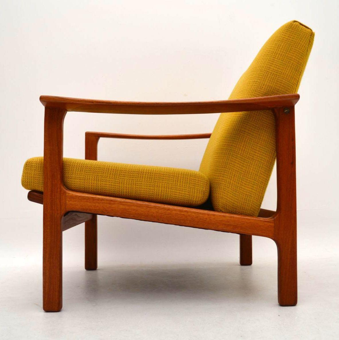Pair Of Swedish Teak Retro Armchairs Vintage 1960 S
