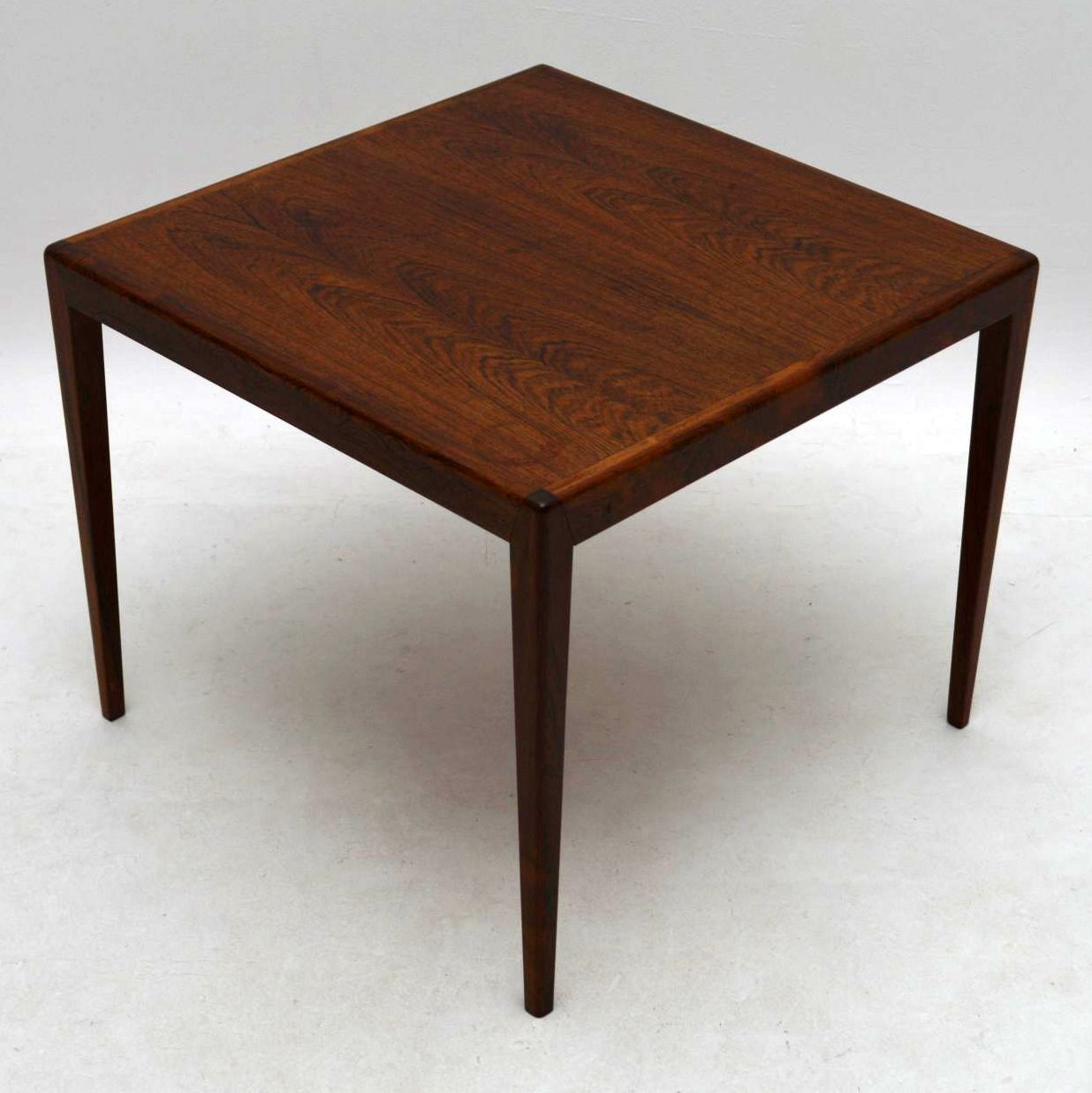 Danish rosewood retro coffee side table vintage 1960 s for Retro side table