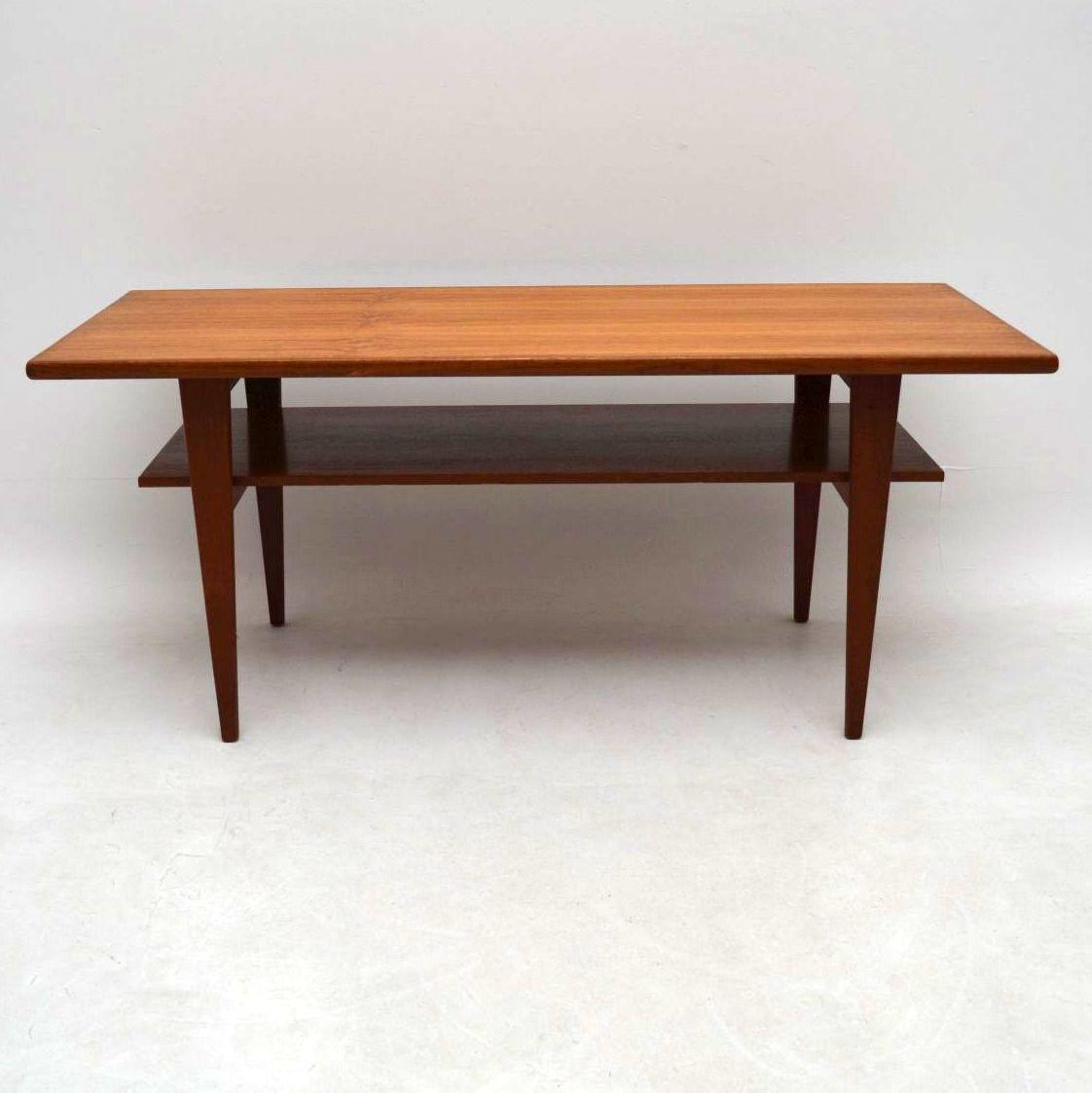 Second Hand Teak Coffee Table: 1960's Danish Teak Coffee Table