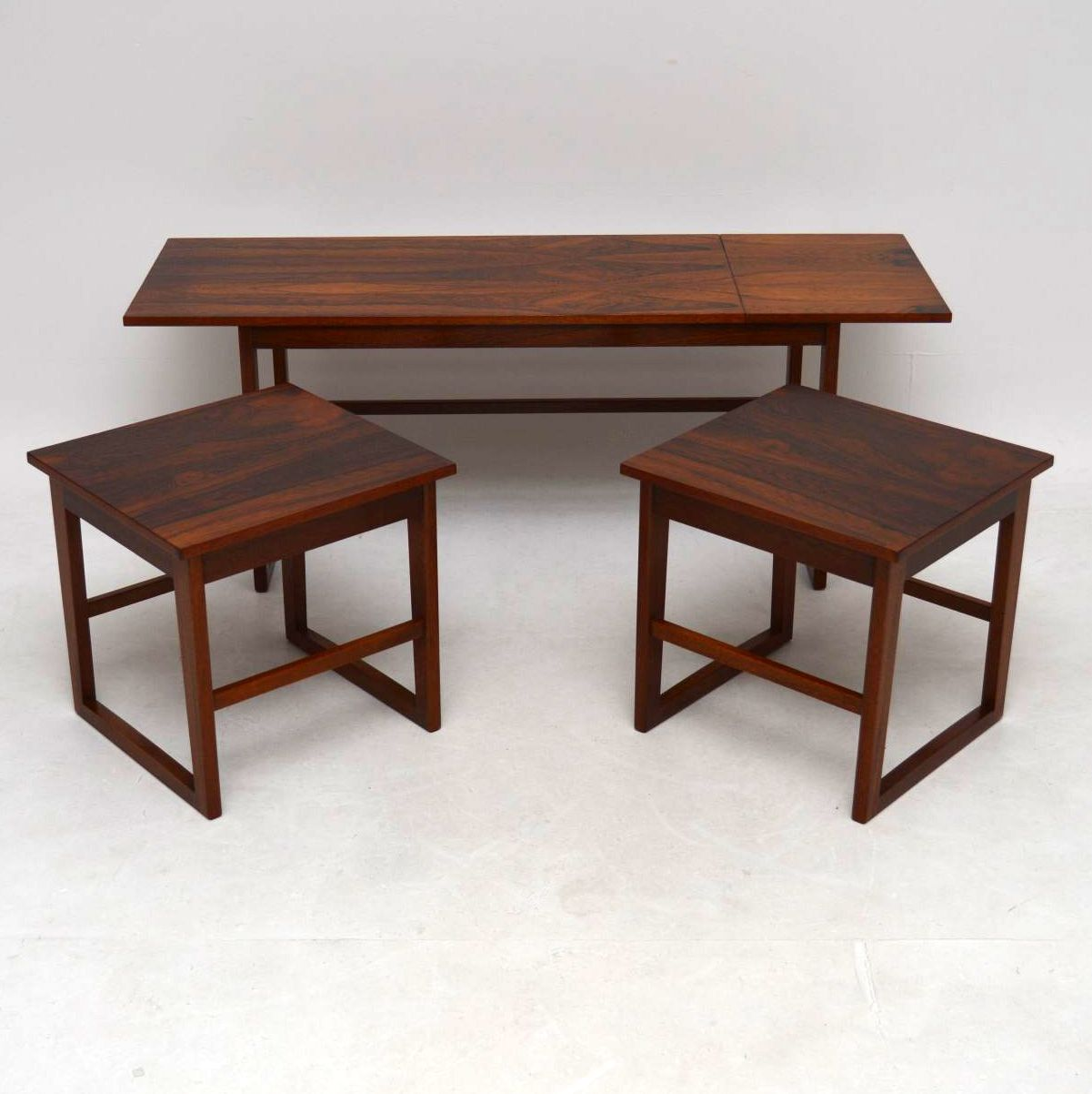 1960's Rosewood Nesting Coffee Table / Side Tables