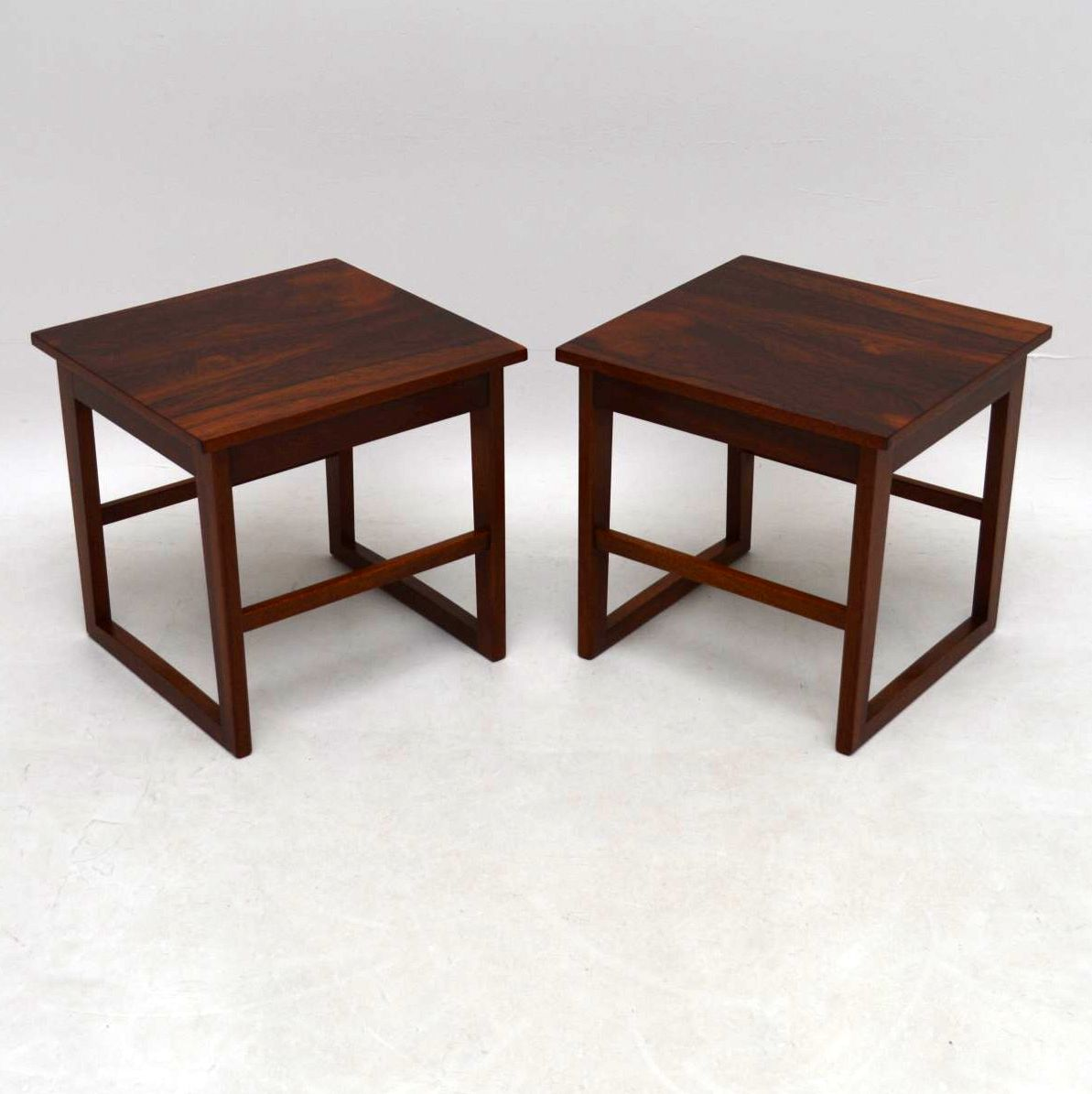 1960 S Rosewood Nesting Coffee Table Side Tables