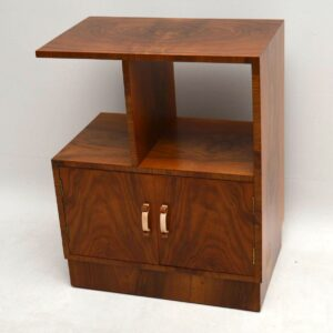 Art Deco Vintage Walnut Cabinet / Side Table
