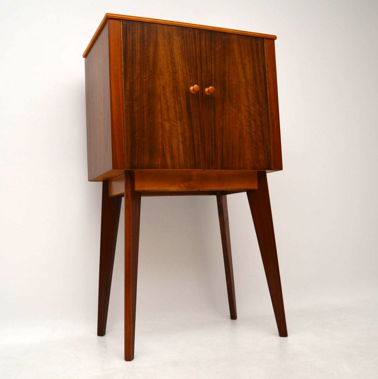 1950 S Walnut Drinks Cabinet By Morris Of Glasgow