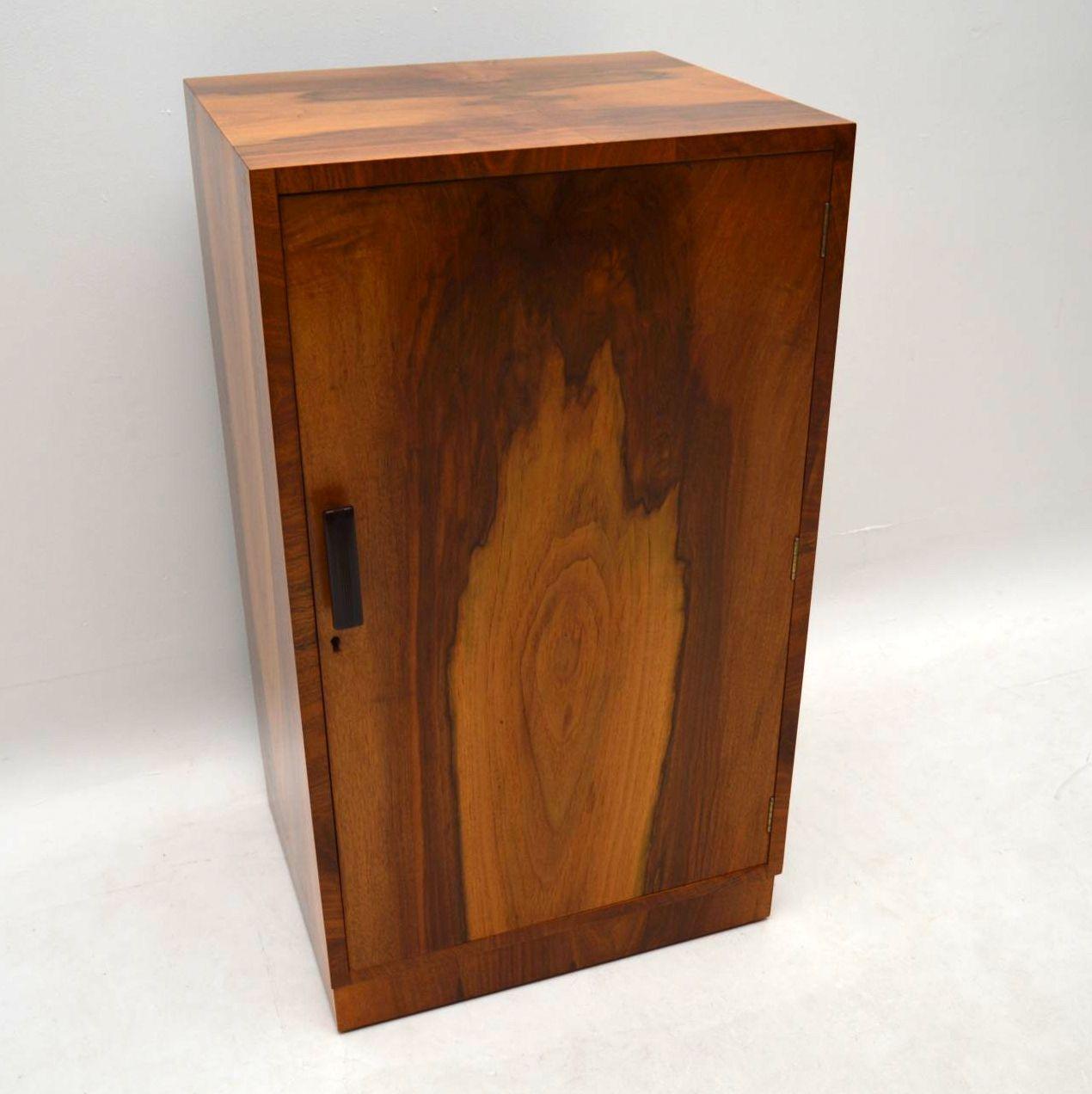 Art Deco Vintage Walnut Cupboard Cabinet Retrospective