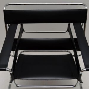 Leather & Chrome Wassily Chair by Marcel Breuer