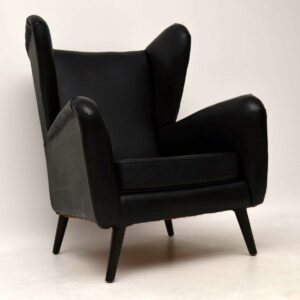 1950's Howard Keith Wing Back Armchair