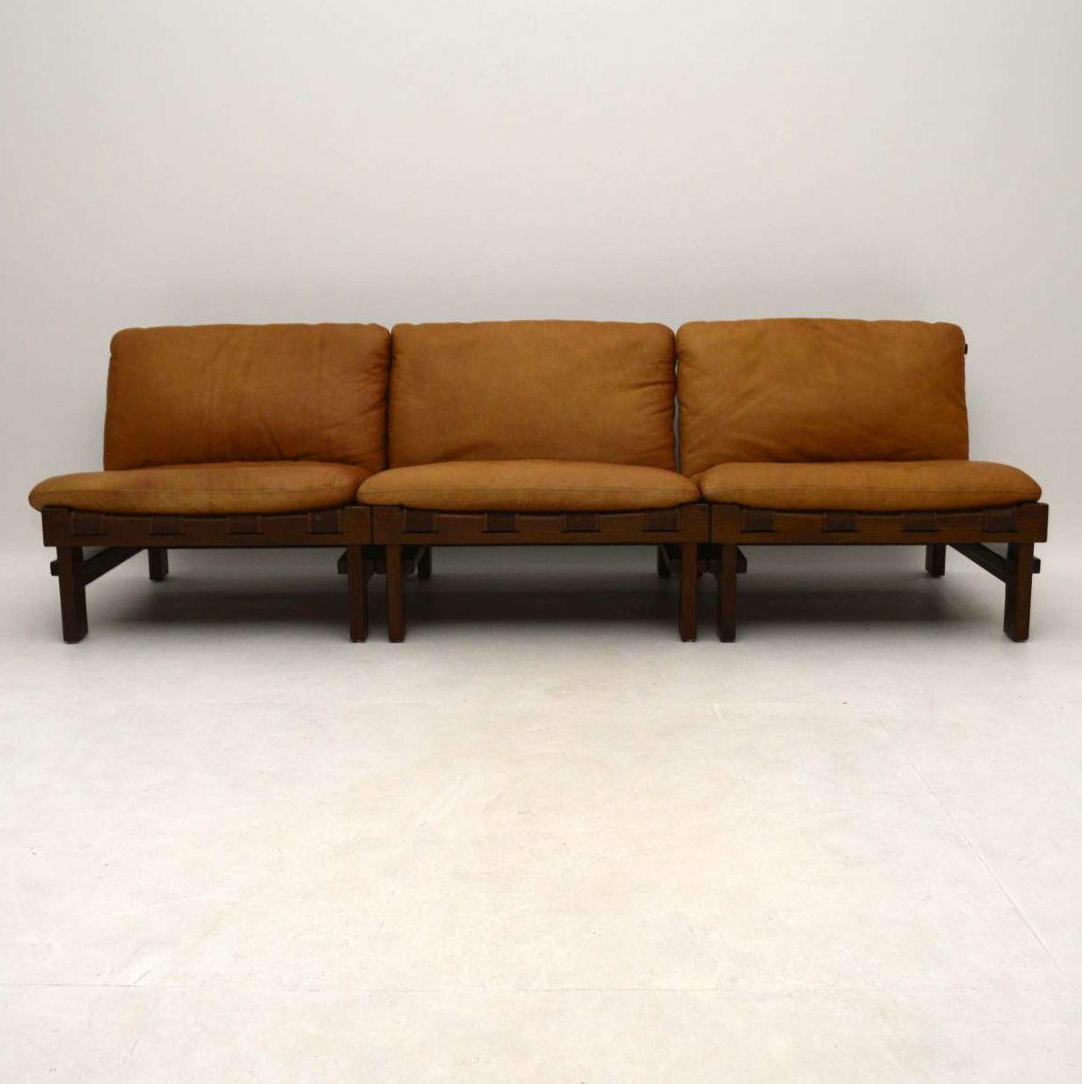 1960 S Danish Leather Modular Sofa Retrospective