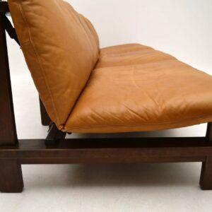 1960's Danish Leather Modular Sofa