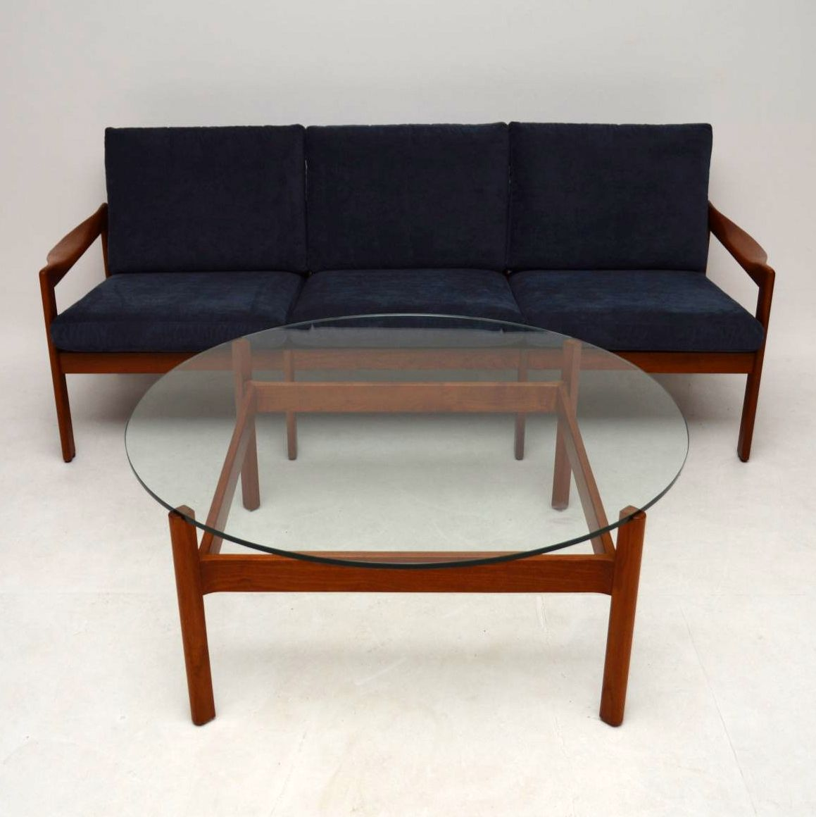 Second Hand Teak Coffee Table: 1960's Danish Teak Coffee Table By Illum Wikkelso