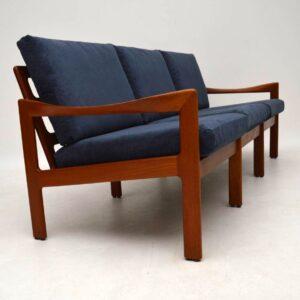 1960's Danish Teak Vintage Sofa by Illum Wikkelso for Niels Eilersen