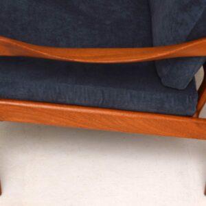 1960's Danish Teak Vintage Armchair by Illum Wikkelso for Niels Eilersen