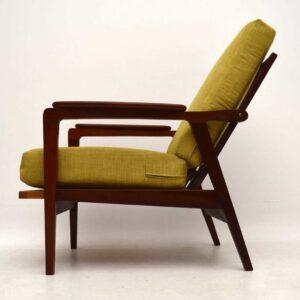1960's Danish Teak Reclining Armchair
