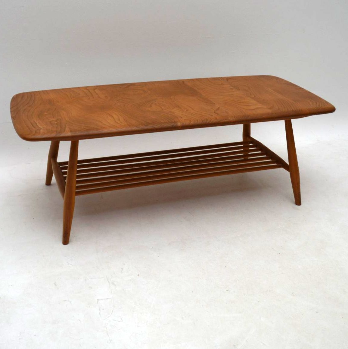 1960 S Vintage Ercol Coffee Table In Solid Elm Retrospective Interiors Vintage Furniture