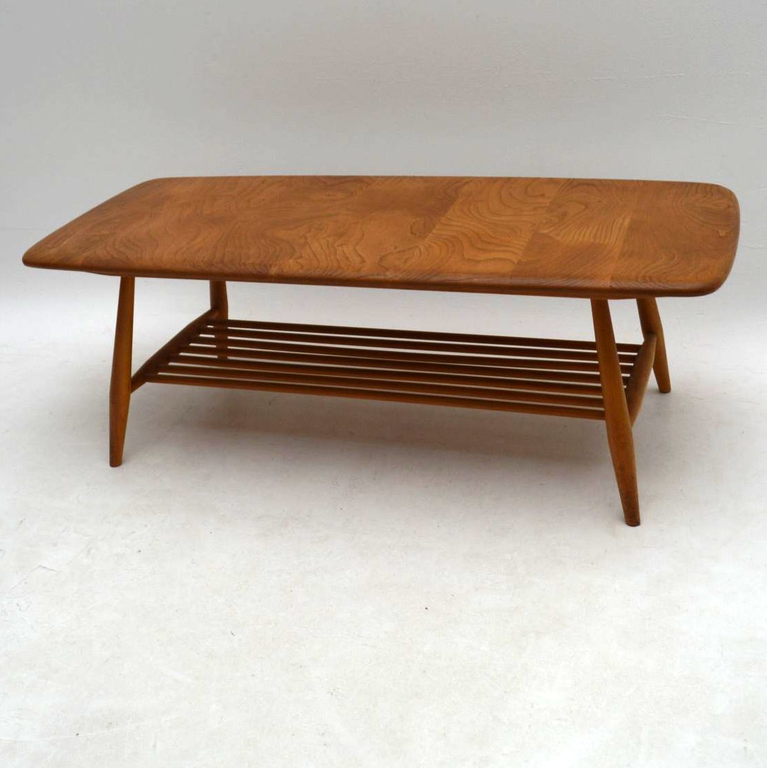 1960s Vintage Ercol Coffee Table in Solid Elm Retrospective
