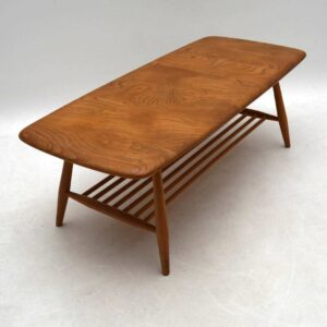 1960's Vintage Ercol Coffee Table in Solid Elm