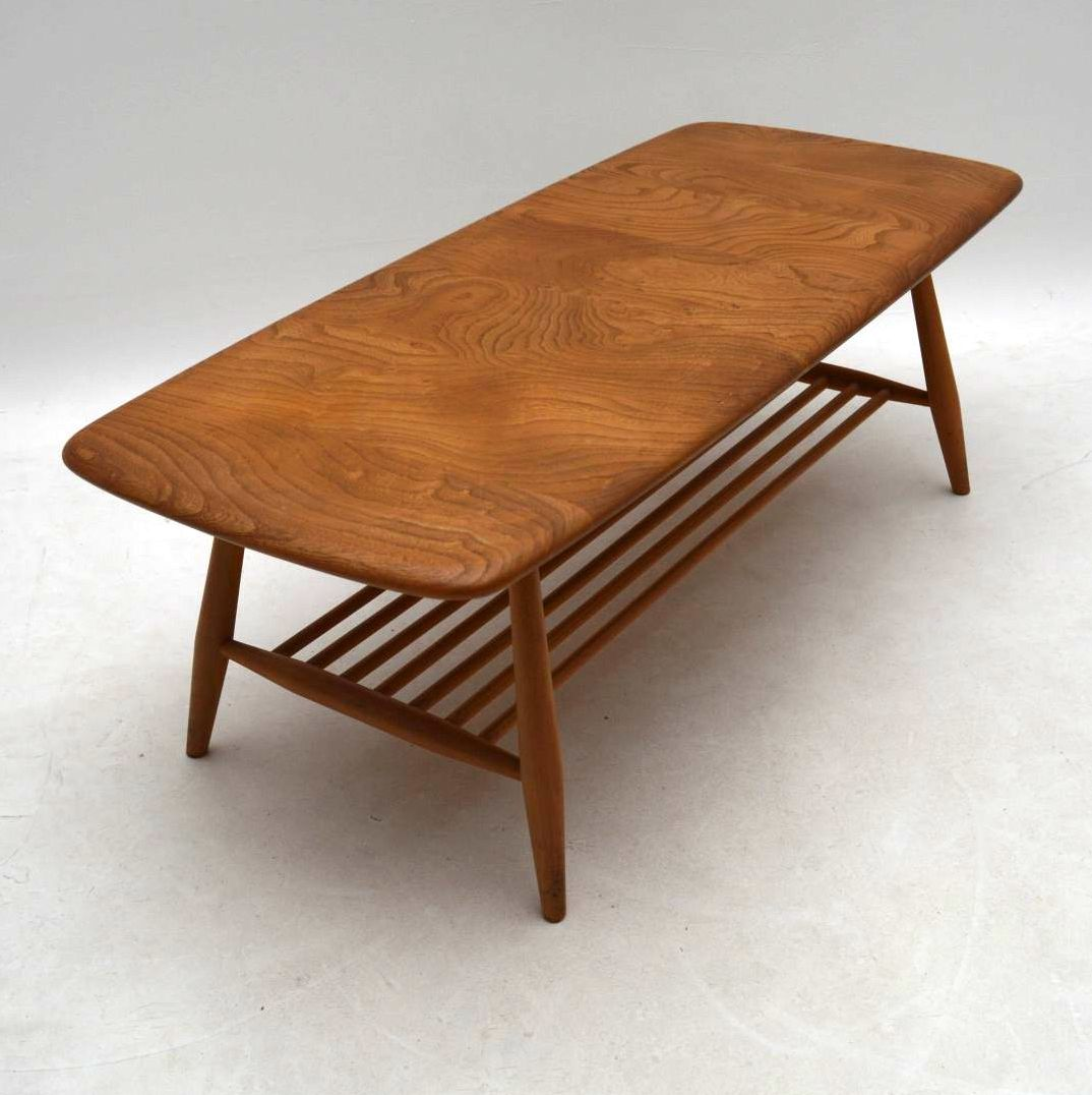 1960 S Vintage Ercol Coffee Table In Solid