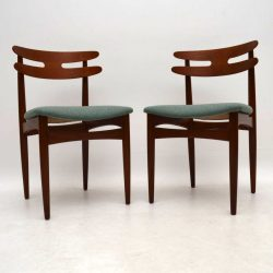 1960's Pair of Danish Teak Side Chairs by H.W Klein for Bramin