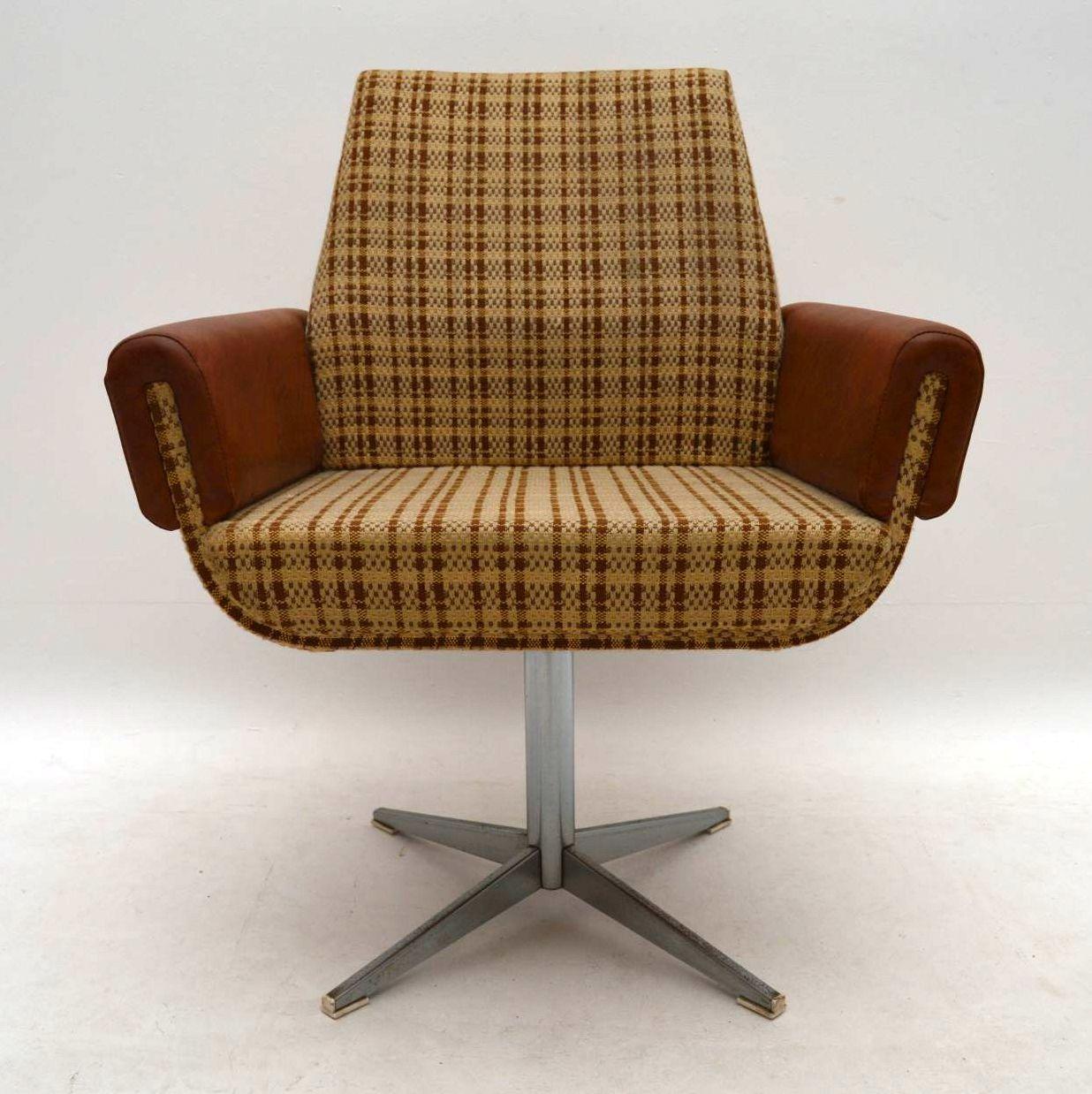 1960's Vintage Swivel Desk Chair