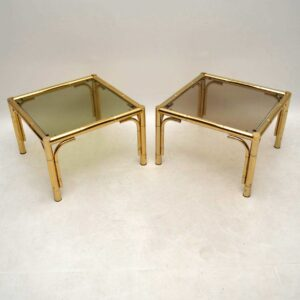 Pair of 1970's Vintage Brass Side Tables