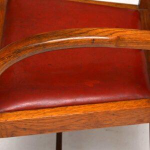 1940's Vintage Oak Armchair / Desk Chair