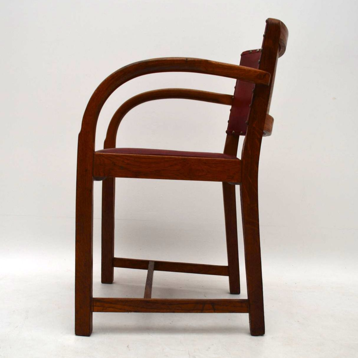 1940 S Vintage Oak Armchair Desk Chair Retrospective