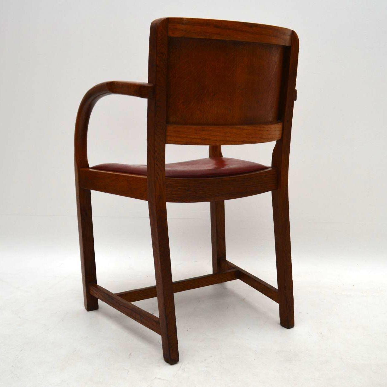 1940 S Vintage Oak Armchair Desk Chair Retrospective