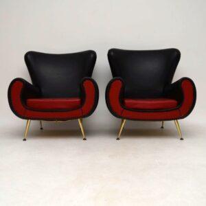 Pair of Italian 1960's Vintage Armchairs