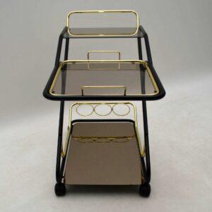 1970's Vintage Brass Drinks Trolley
