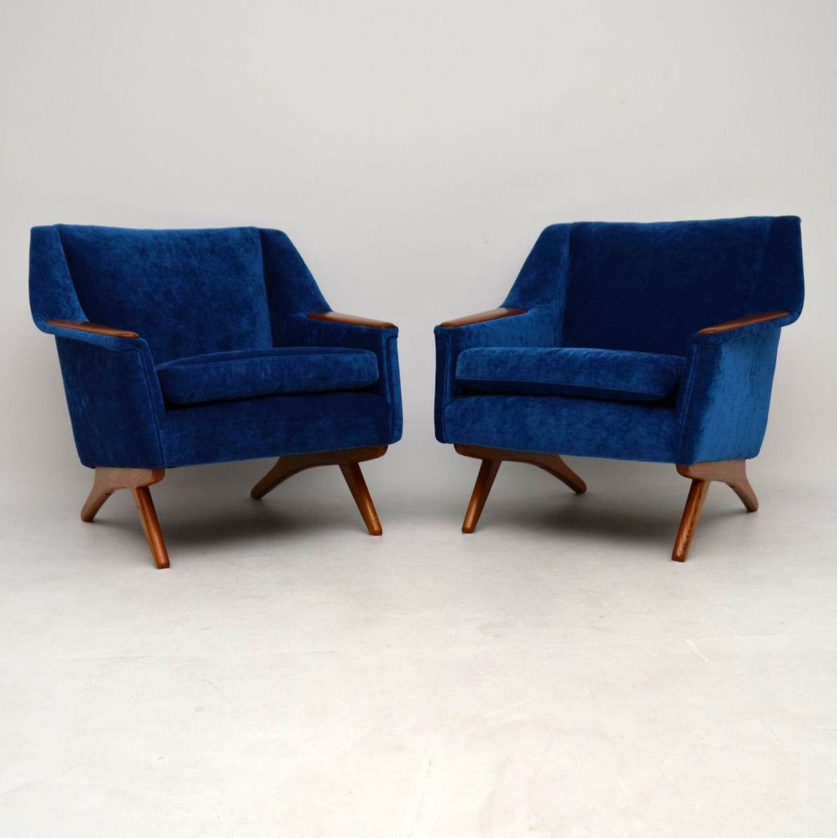 1960's Pair of Vintage Armchairs by Illum Wikkelso for Westnofa