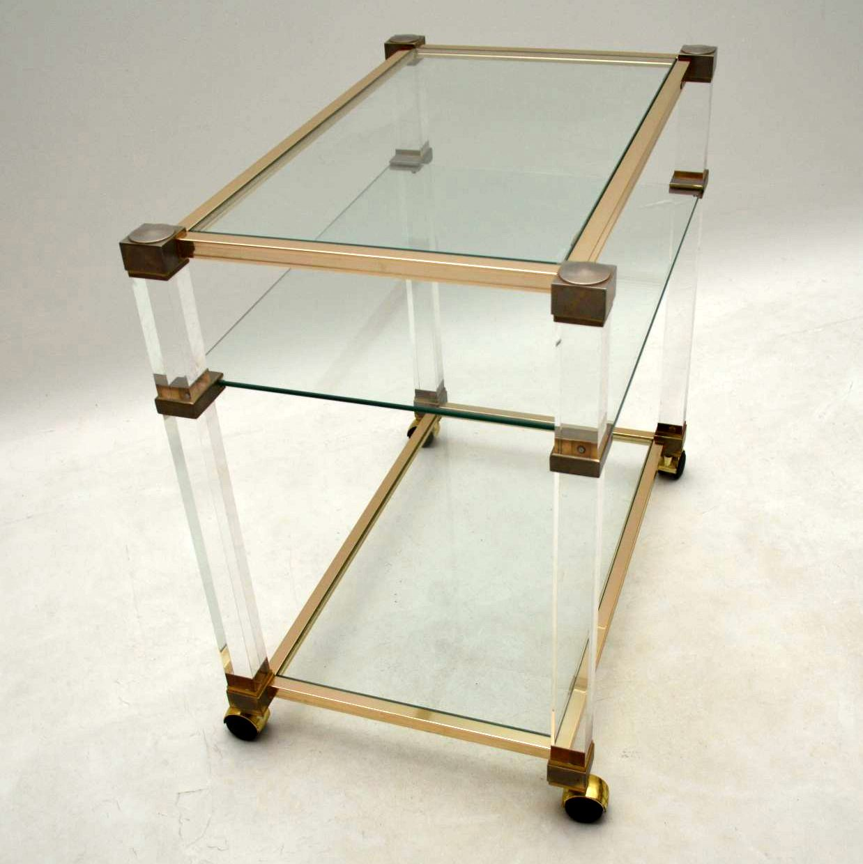 Vintage 1970 S Drinks Trolley In Glass Amp Lucite