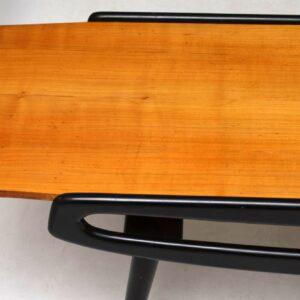 Vintage 1950's Italian Coffee Table in Sycamore & Ebonised Wood