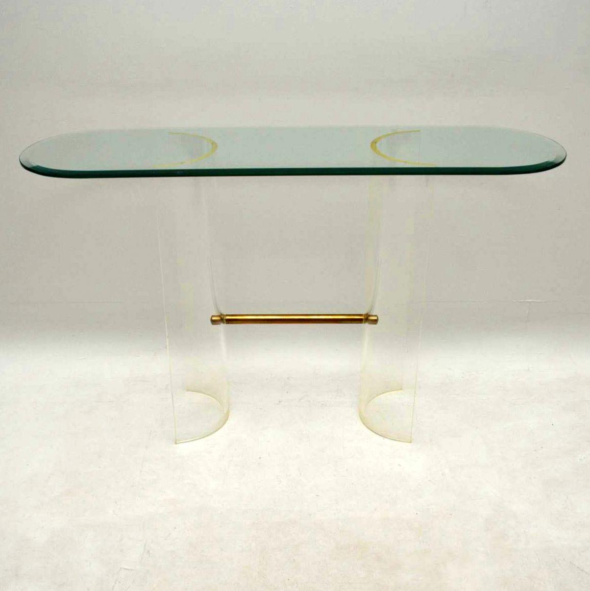1970 S Vintage Glass Amp Perspex Console Table Retrospective Interiors Vintage
