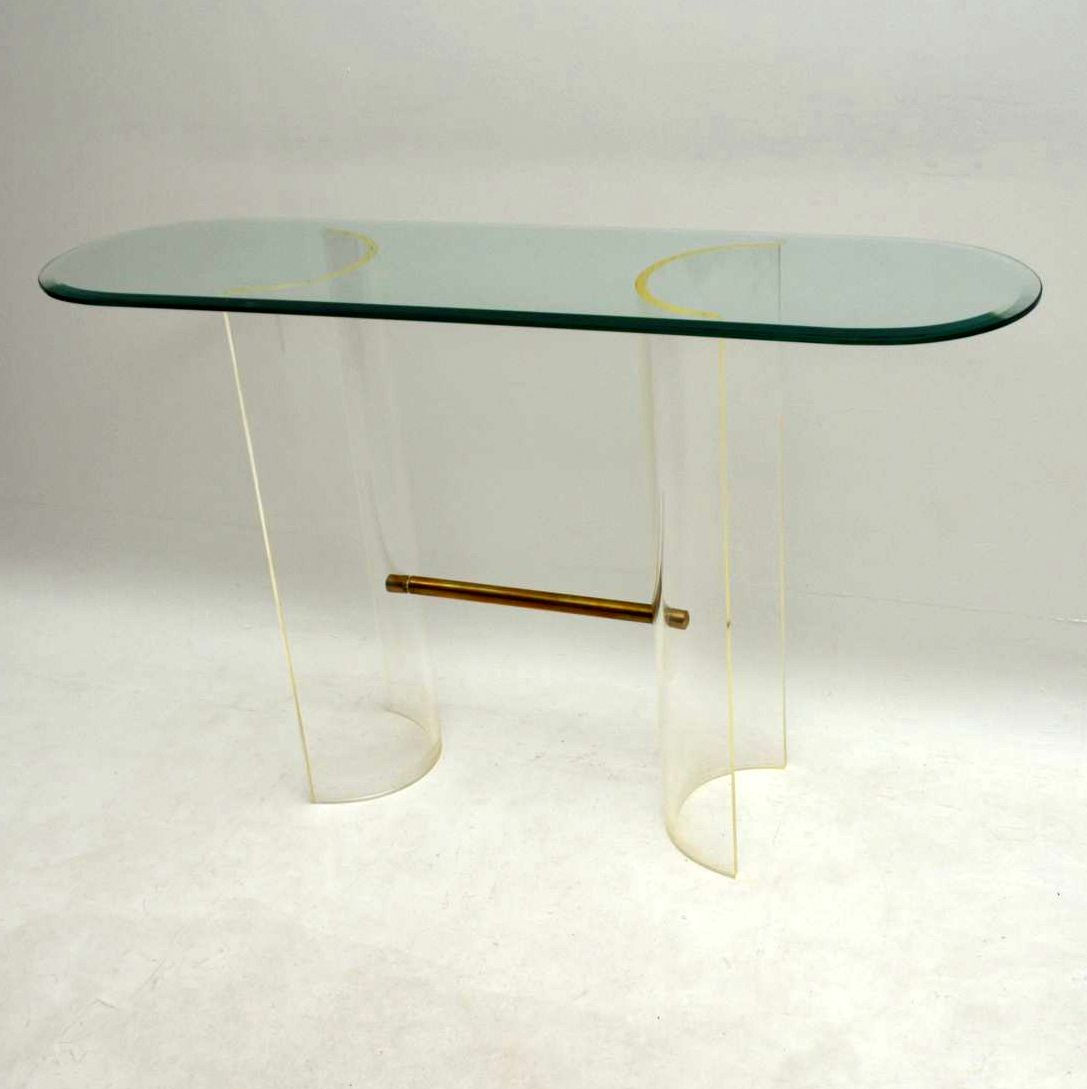 1970 S Vintage Glass Amp Perspex Console Table