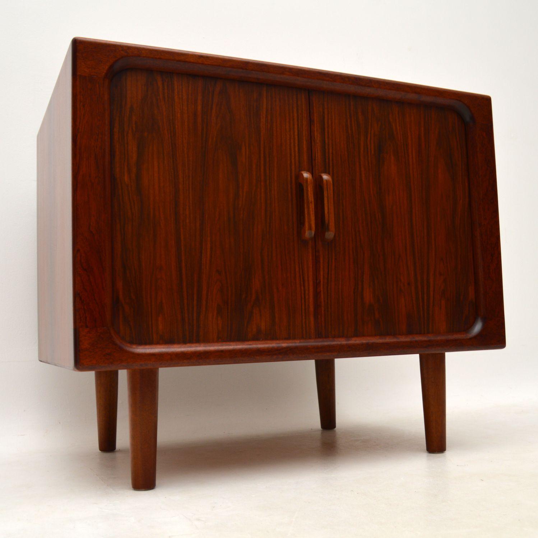 1960 s vintage danish rosewood tv cabinet sideboard retrospective interiors vintage. Black Bedroom Furniture Sets. Home Design Ideas