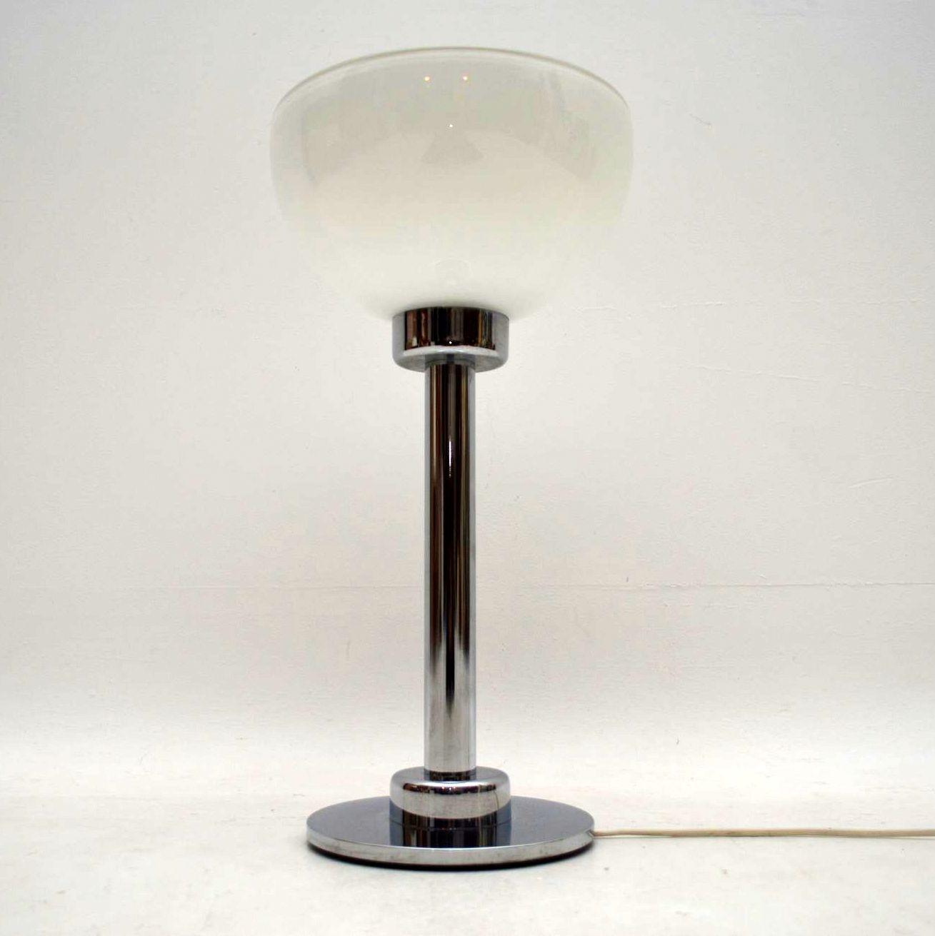 1960 S Vintage Chrome Amp Glass Table Lamp Retrospective