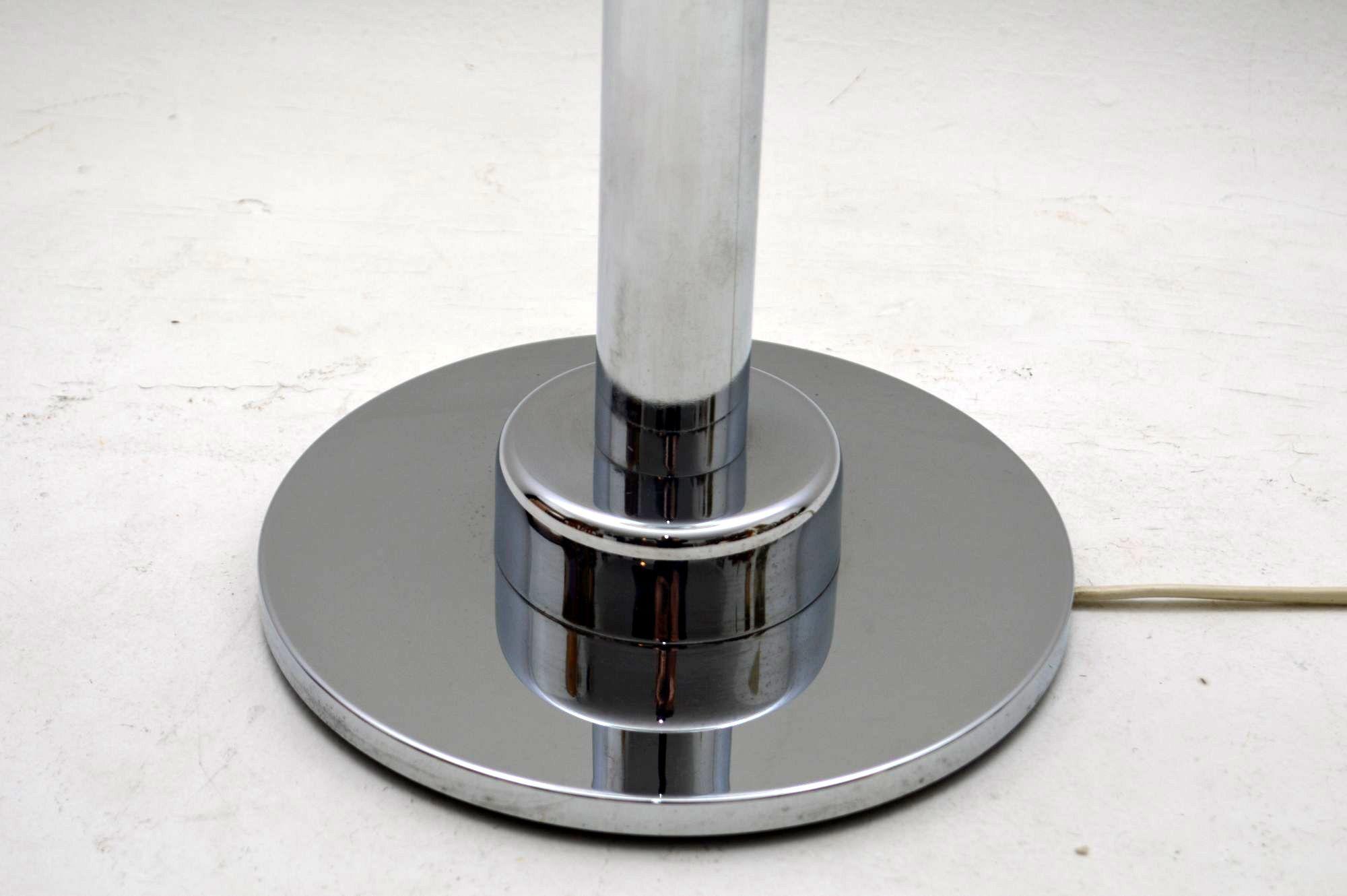 1960 S Vintage Chrome Amp Glass Table Lamp Retrospective