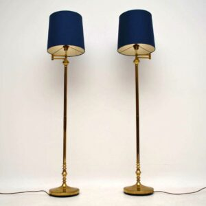 1970's Pair of Vintage Brass Lamps