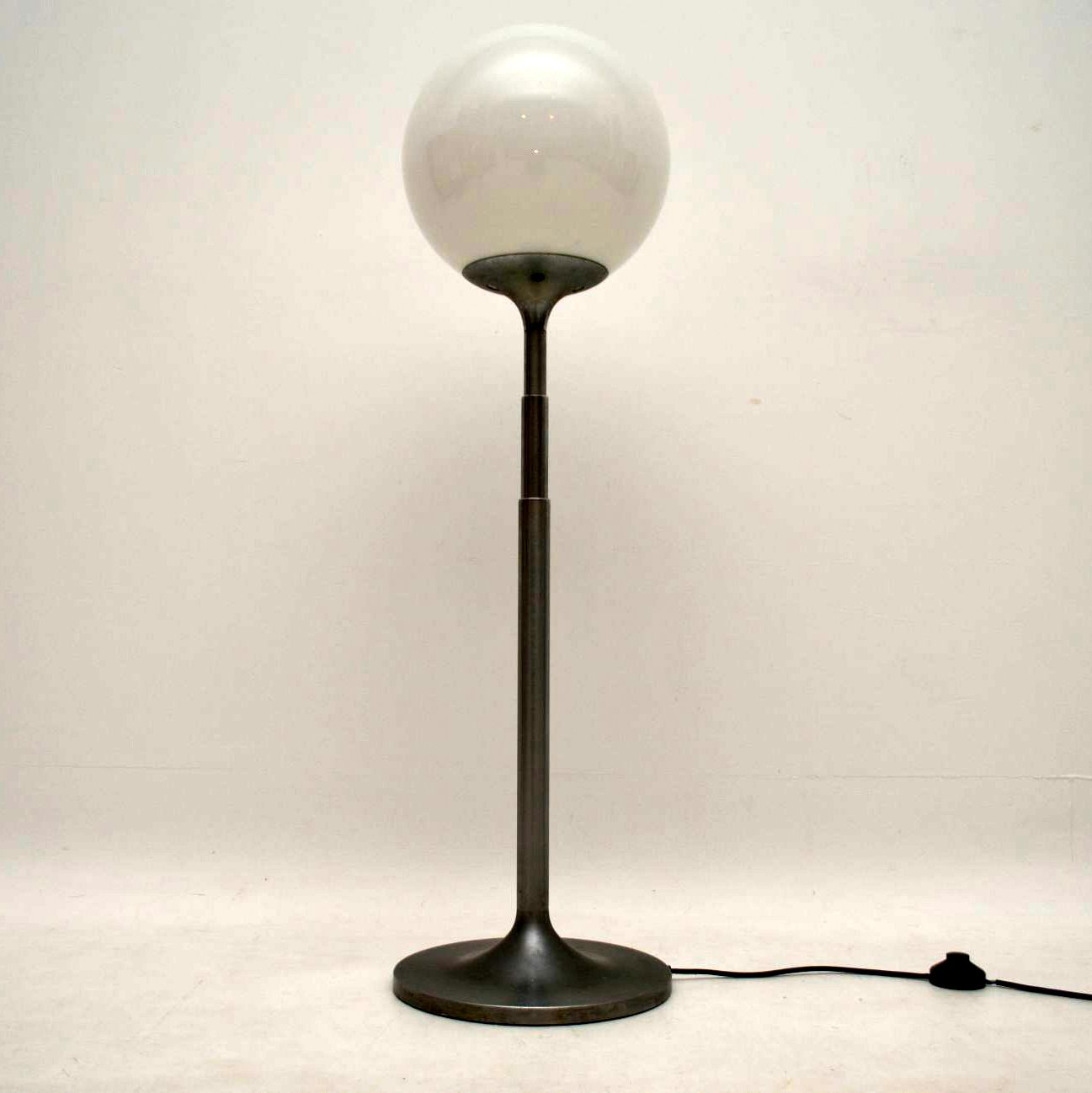 1960's Vintage Steel and Glass Telescopic Lamp
