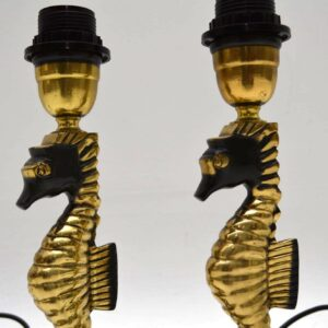 Pair of Argentinian Vintage Brass Table Lamps