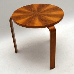 1930's Vintage Walnut Stool / Table by Alvar Aalto