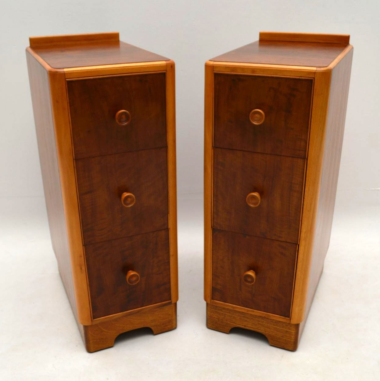 1960's Pair of Vintage Walnut Bedside Chests