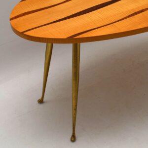 1950's Italian Vintage Rosewood & Satin Wood Coffee Table