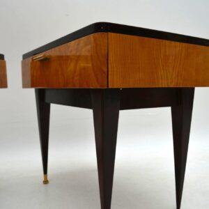1950's Pair of Italian Elm Bedside Tables
