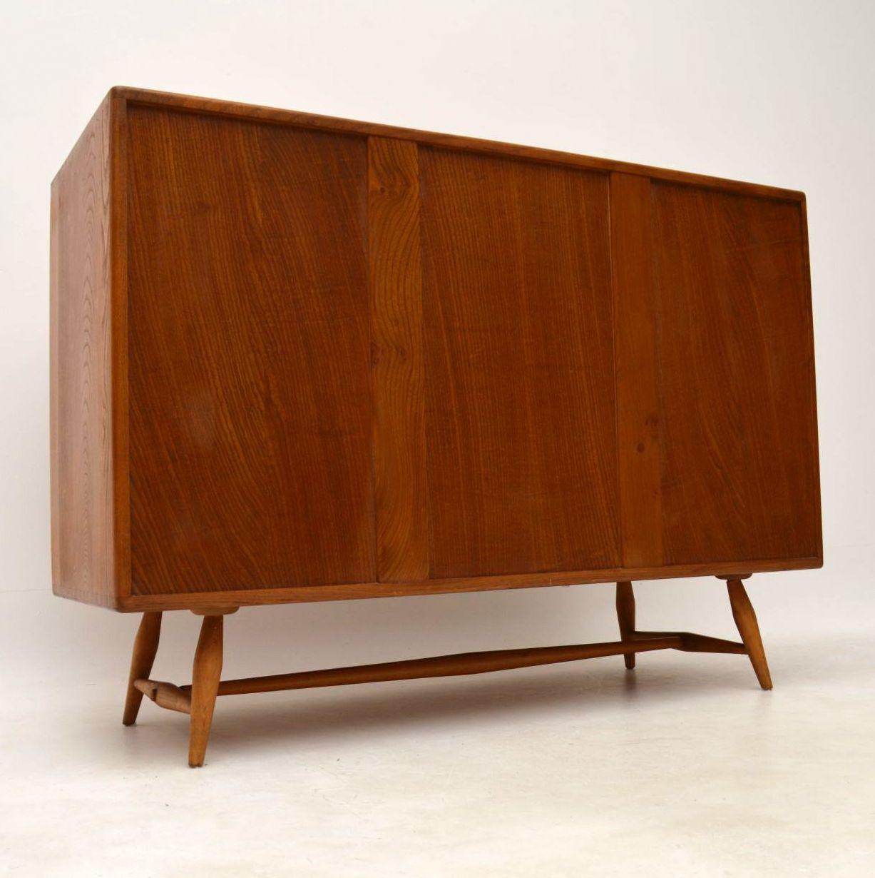 1960 S Vintage Ercol Sideboard In Solid Elm
